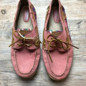 Sperry topsider pink classic boat shoes